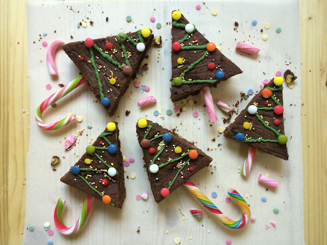 brownie navidad receta