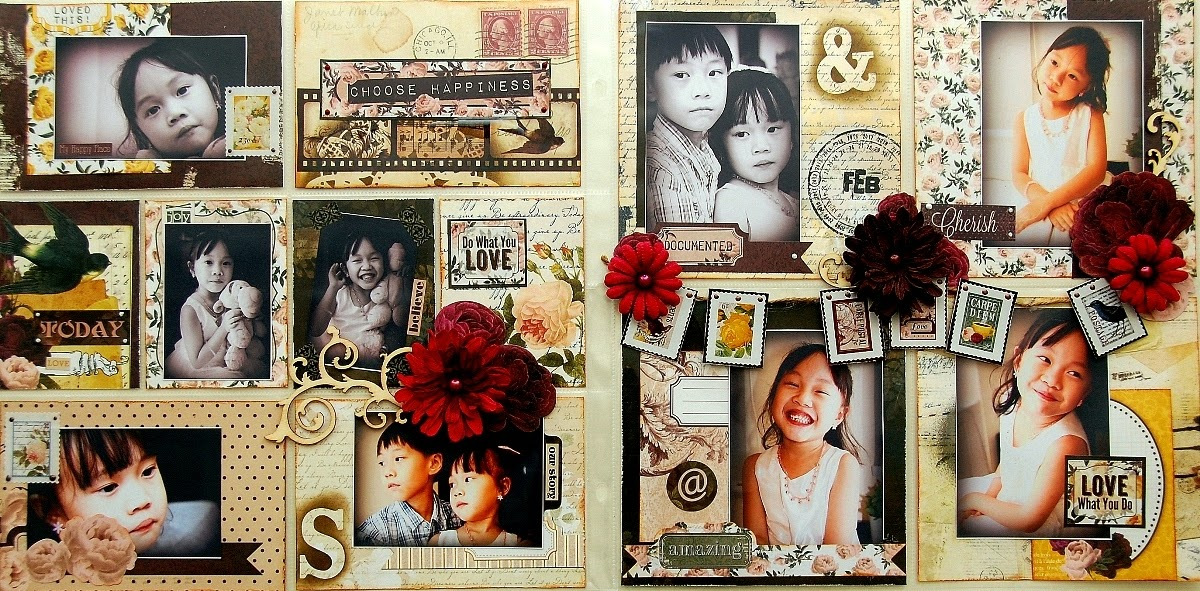 Choose Happiness Misc Me Pages by Irene Tan using BoBunny Rose Cafe collection