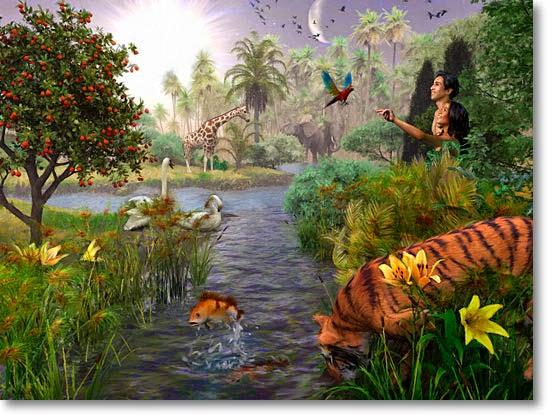 Gambar Mewarnai Taman Eden