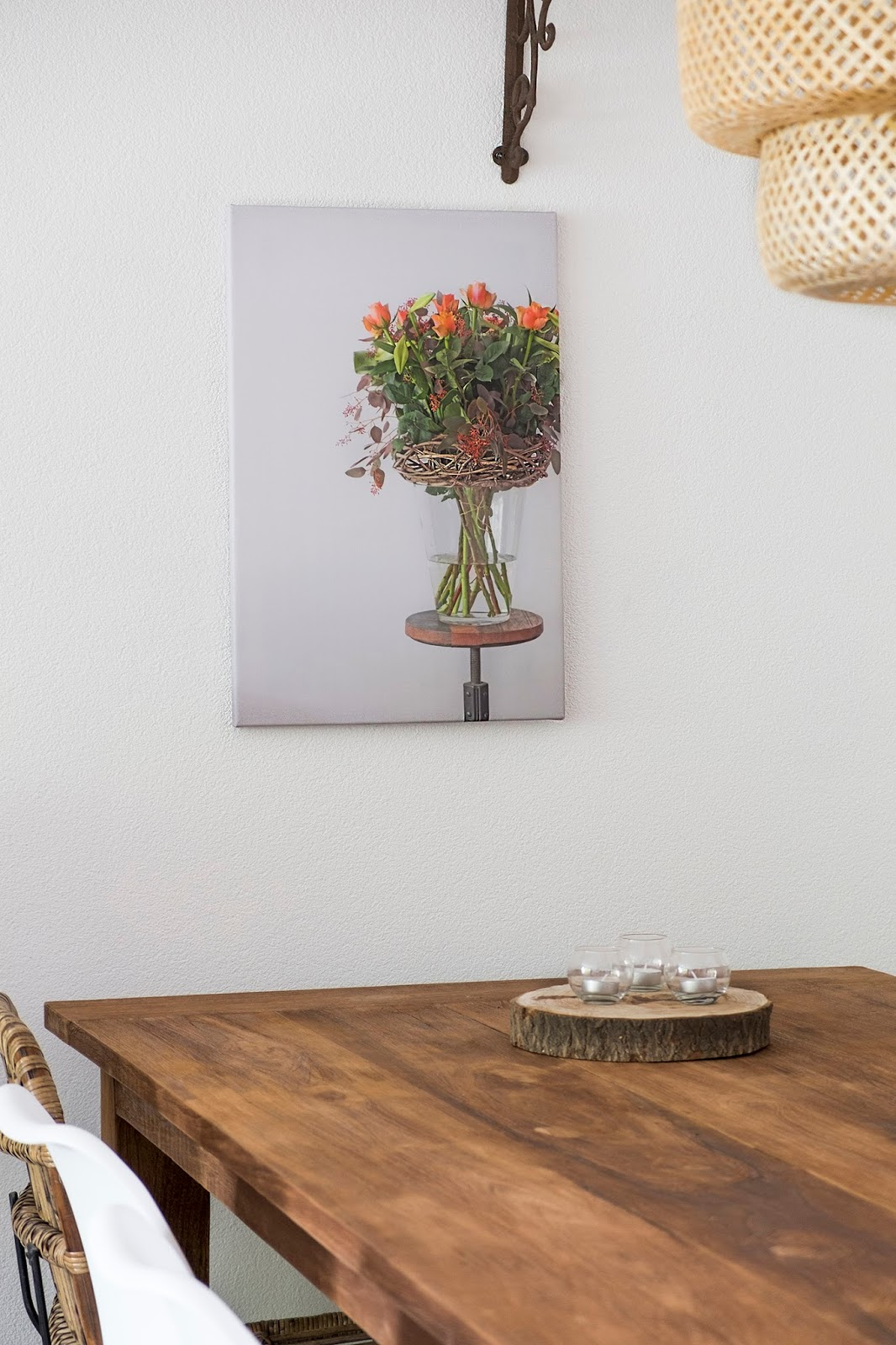 Foto op canvas, interieur idee