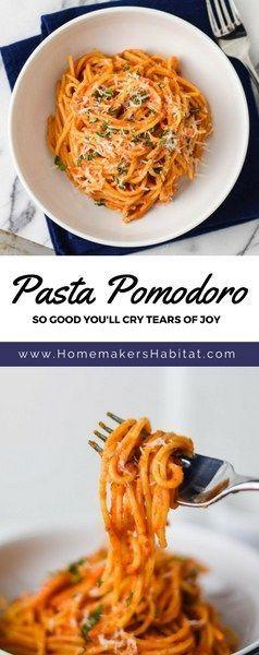 HOMEMAKER'S HABITAT PASTA POMODORO #dinner #maincourse #pasta