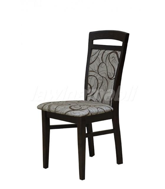 Krzesło tapicerowane z litego drewna bukowego