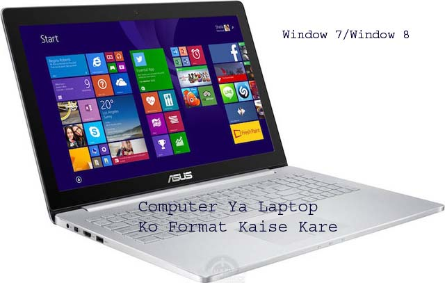 format laptop