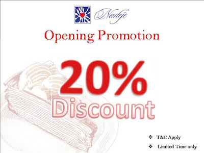 Nadeje Cake Shop Mille Crepe Discount Offer Promo