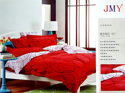 Sprei Jepang Super Motif Abstrak Merah