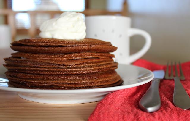 Hot Cocoa Keto Pancakes