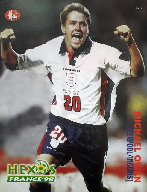 MICHAEL OWEN ENGLAND WORLD CUP 1998