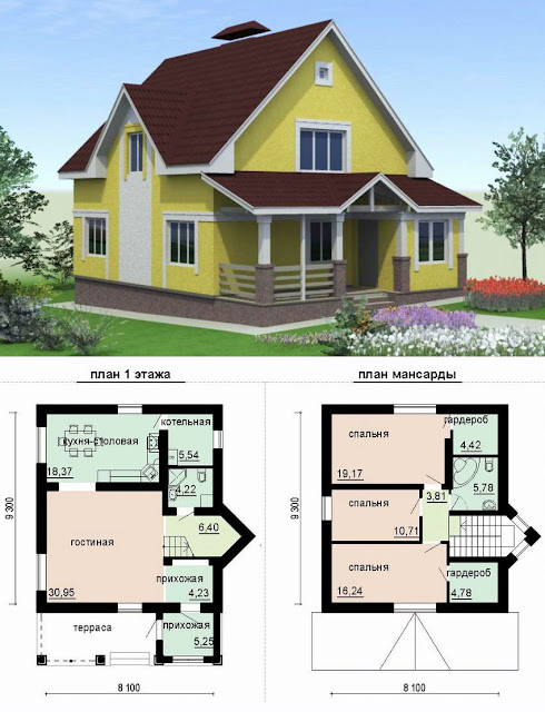 планировка дачного домика