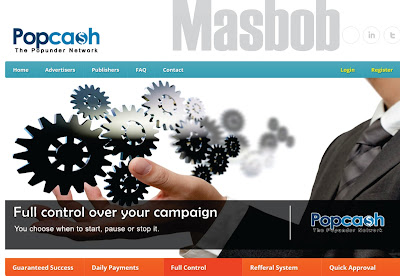Cara Mudah Memasang Iklan PopCash Pada Blog/Website