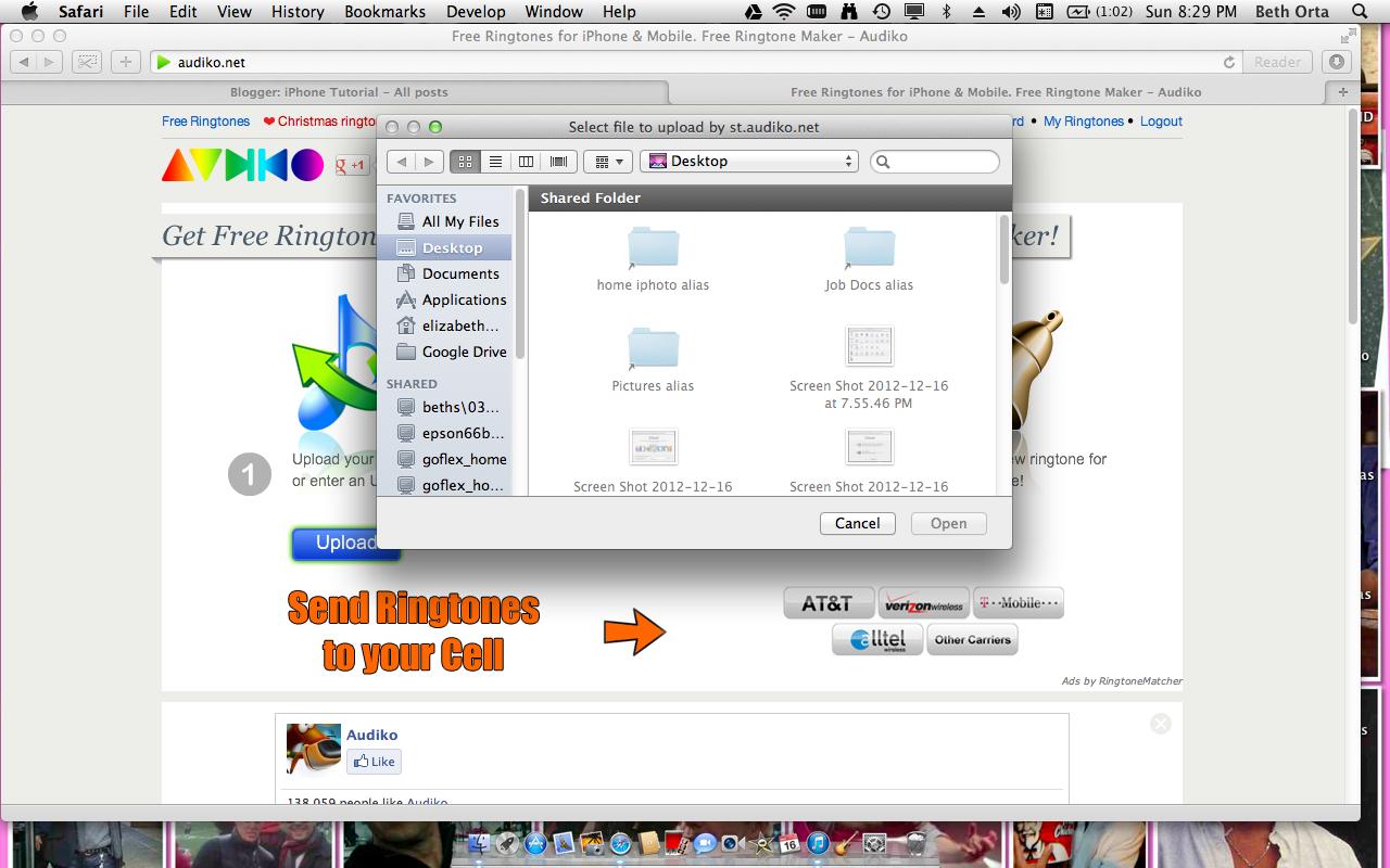 how to download ringtones from audiko.net