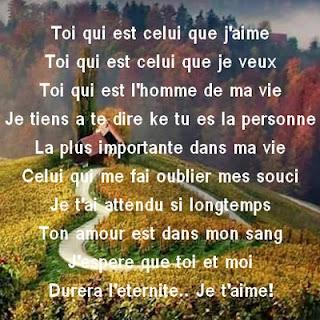 poeme d amour pour mon homme