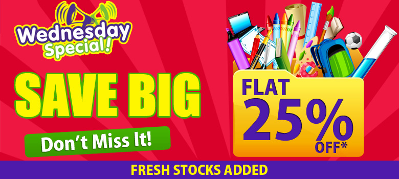 a5f20608081 Wednesday Special - Flat 25% Off on All New Products - Freebie ...