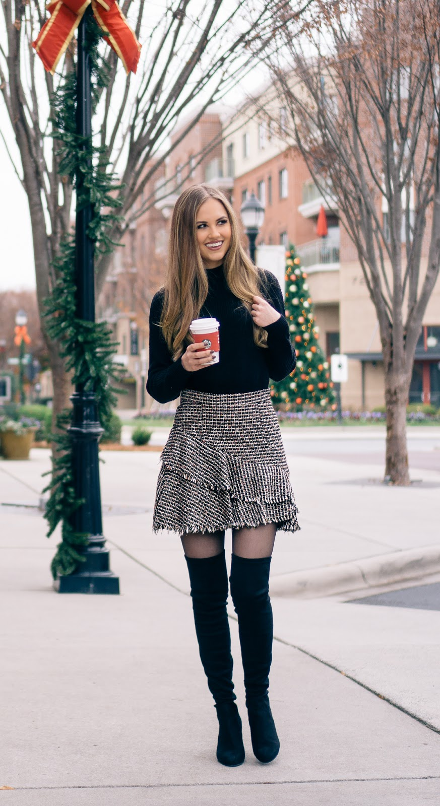 tweed-skirts-and-over-the-knee-boots