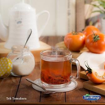 Resep Minuman Teh Unik Tomakura berbahan teh Sari Wangi