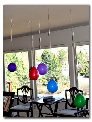 Birthday Party Balloon Decorating: Upside Down Party
