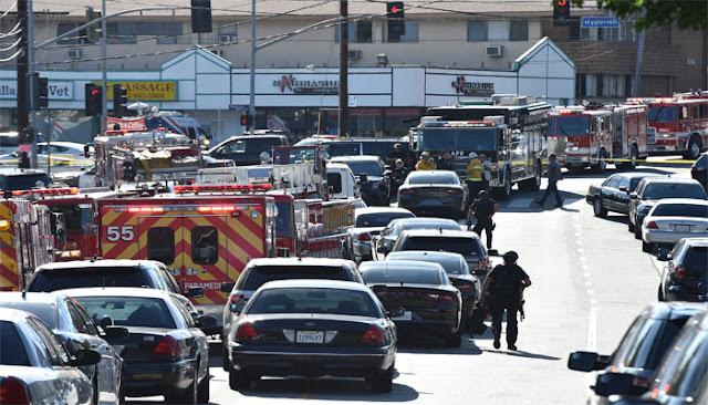 Shooting Suspect Barricaded inside US Supermarket   Police