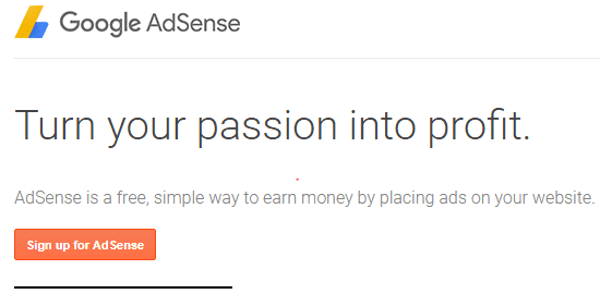 Turn your passion into profit adsense approval
