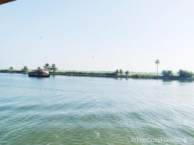 The cozy flare blog by Rajni Negi, TRAVEL,Kerala travel, Allepey backwaters, house boat at kerala, cruising, house boat cruising at kerala, India travel, Backwaters view, houseboat view