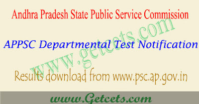 APPSC departmental test results 2019-2020 May/Nov