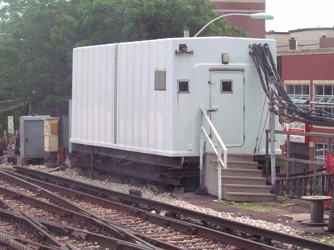 The Position Light Cta Mini Towers Relay Terminal Transportation Finally Sometimes Operator Can Get His Own Stand Alone Booth On Station Platform One Such Tower Is Located At South End Of Damien
