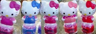DOLLAR TREE HAUL Peelable nail polish HK Sanrio HelloKitty magenta pink red blue peach violet $1 review