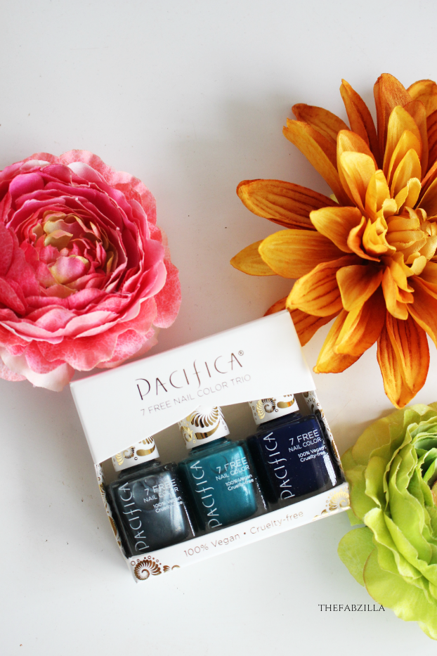 Pacifica Beauty 7 Free Nail Trio, Pacifica Beauty Jet Set Trio Kale Collection