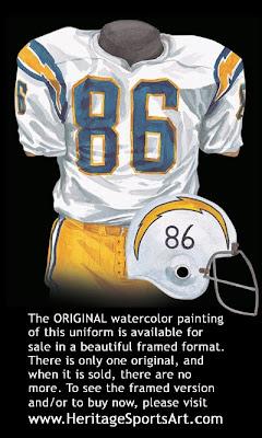 San Diego Chargers 1973 uniform