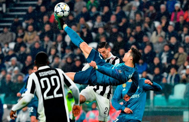 ronaldo bicycle kick against juventus