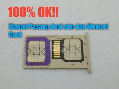 Cara memasang dual sim dan memori di  hp xiaomi secara bersamaan