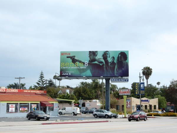 Sense 8 series launch billboard