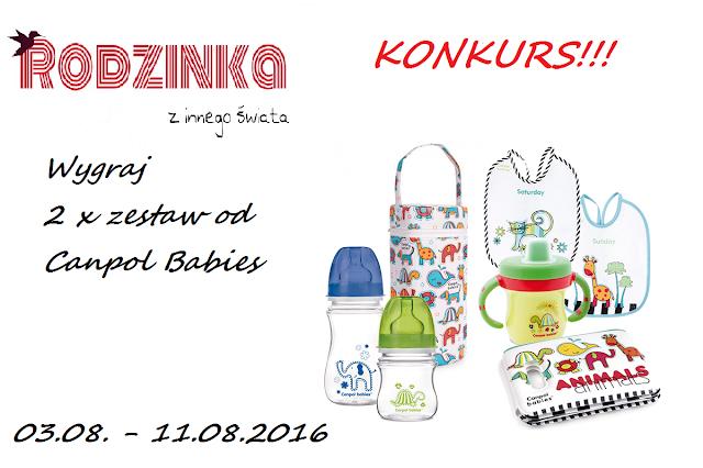 Canpol babies, konkurs, rozdanie, give away, butelki, zestaw naczyń canpol, książeczka kąpielowa