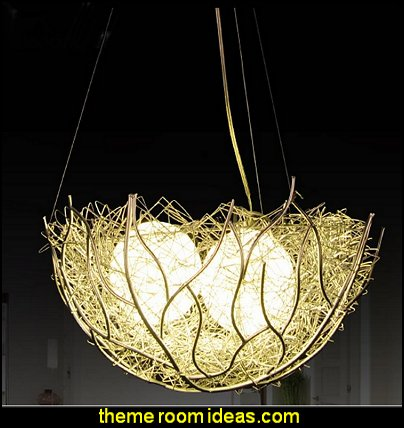 Bird's Nest Design Home Decorative Pendant Light  birdcage bedroom ideas - decorating with birdcages - bird cage theme bedroom decorating ideas - bird themed bedroom design ideas - bird theme decor - bird theme bedding - bird bedroom decor