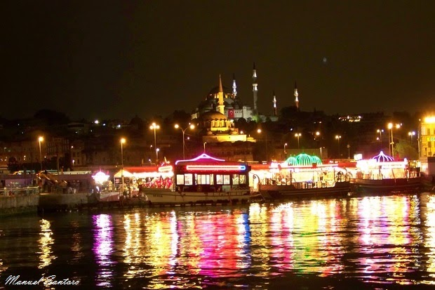 Istanbul, veduta dal ponte di Galata