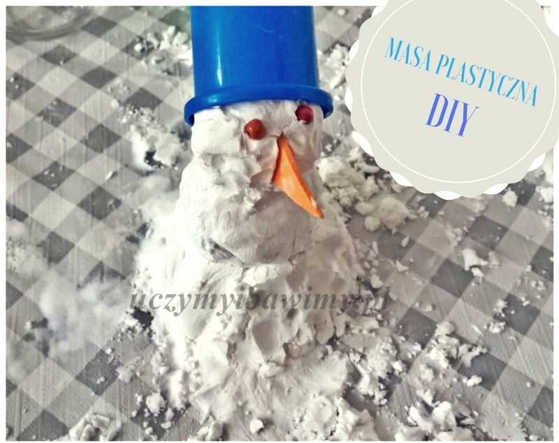 Masa plastyczna - domowy śnieg