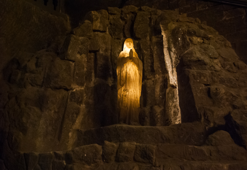 Wieliczka Salt Mine in Poland Mother Mary Salt Statue structure