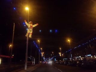 The least blurry photograph I took of the Blackpool illuminations