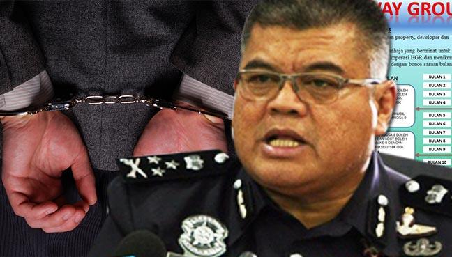 Polis Tangkap 2 'Datuk' Dalang Syarikat Skim Cepat Kaya
