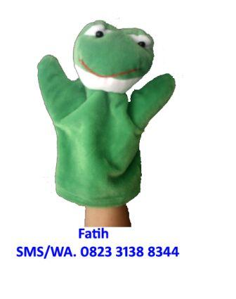 Boneka Tangan Kain Flanel Binatang Katak