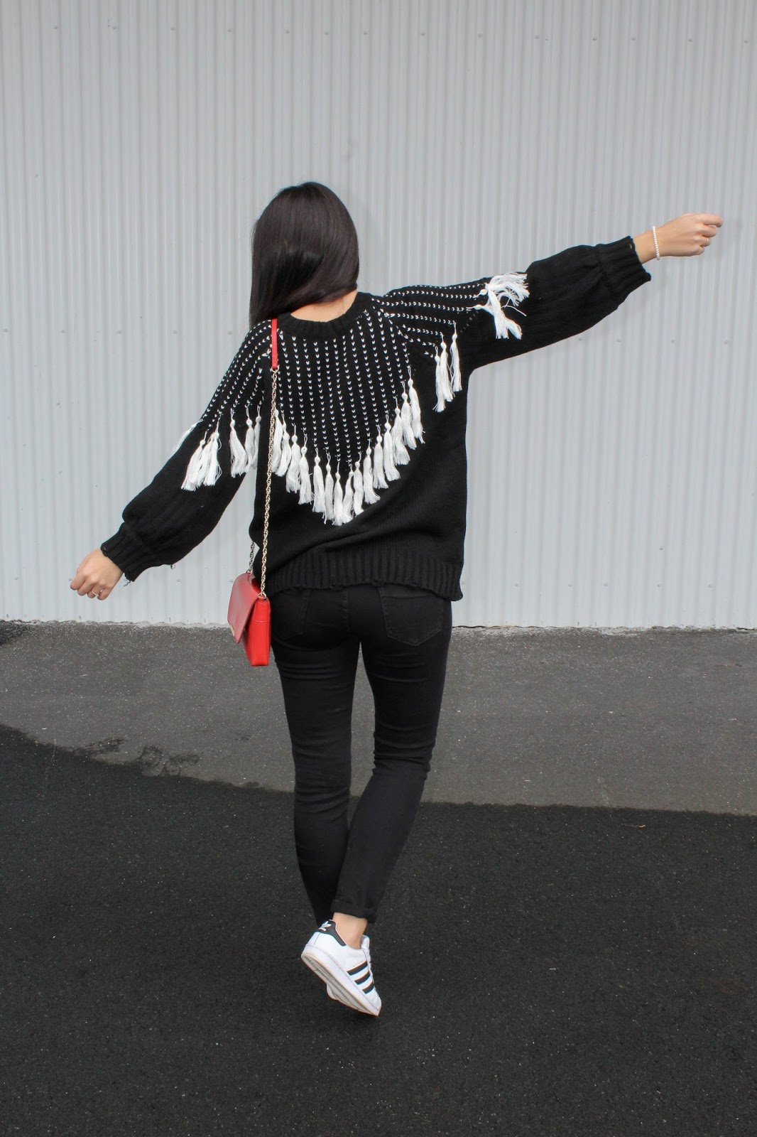 sweater borlas zaful