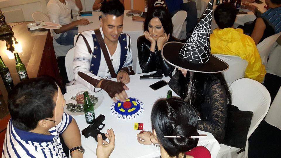 Celebrities in their costume playing tapple.  sc 1 st  Travel Eat Pinas & Victoria Courtu0027s Night of Mystery - Travel Eat Pinas