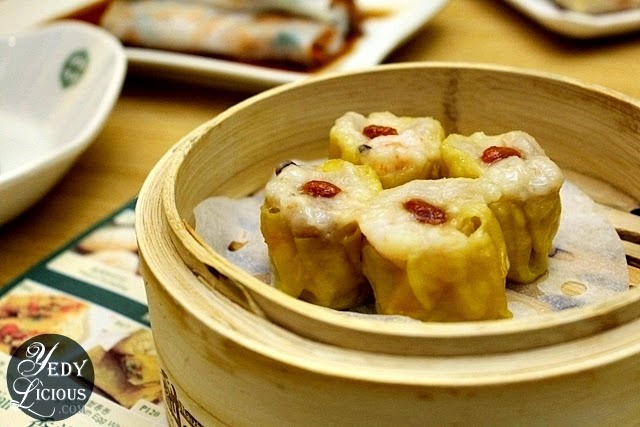 Siomai or Pork Dumplings with Prawn at Tim Ho Wan Manila Philippines