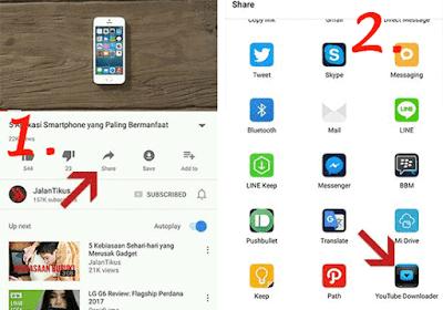 cara menyimpan video facebook dari applikasi yang sudah diinstal