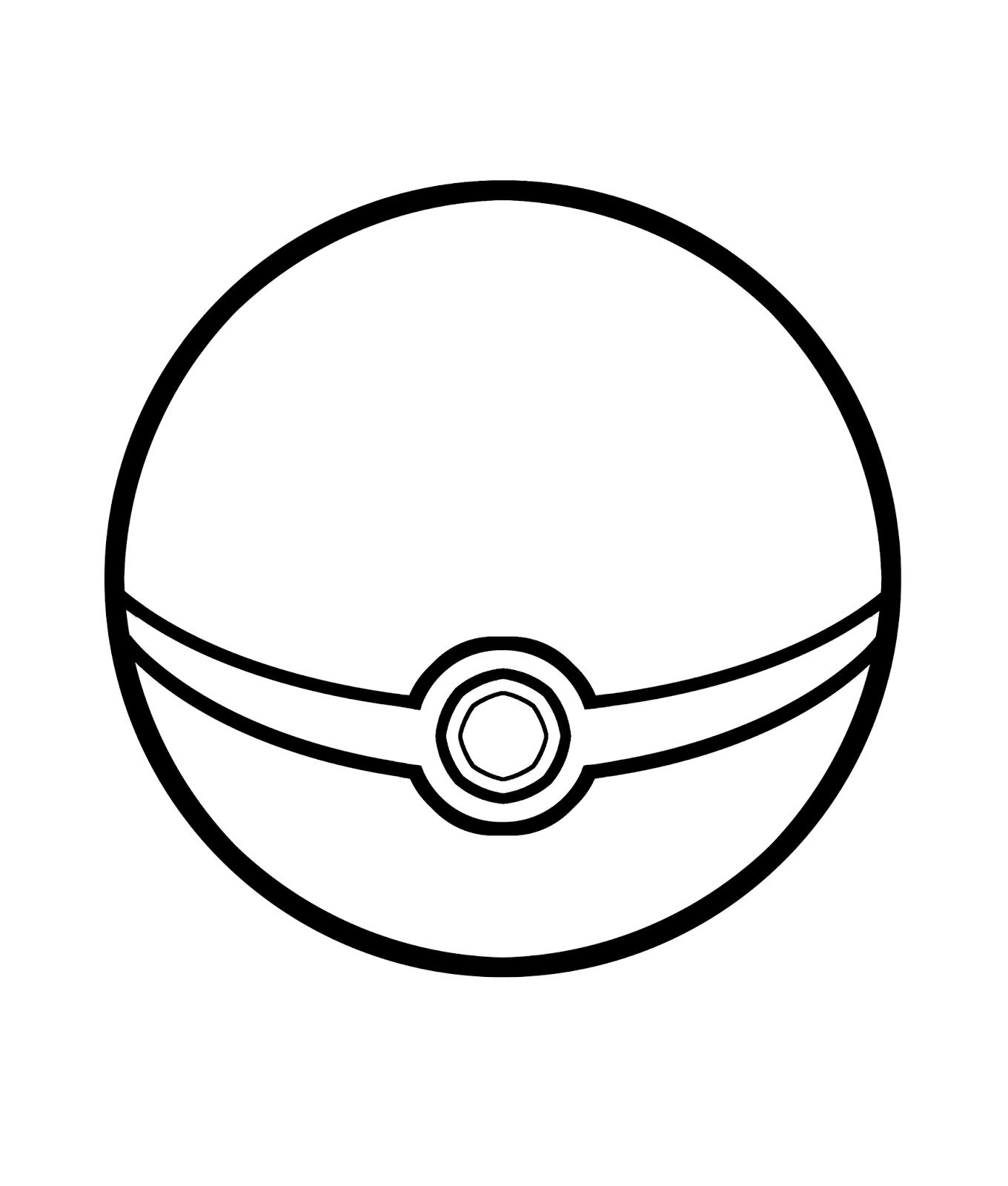 Page de coloriage grand format  imprimer la Pokéball dans les Pokémon