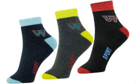 Unisex Ankle Length Socks Pack of 3 For Rs 109 (Mrp 499) at Flipkart deal by rainingdeal.in