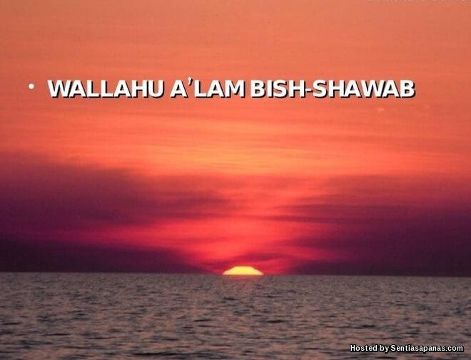 Berhati-Hati Menulis Wallahu A'lam