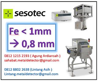 nilai standar sensitivitas metal detector indonesia