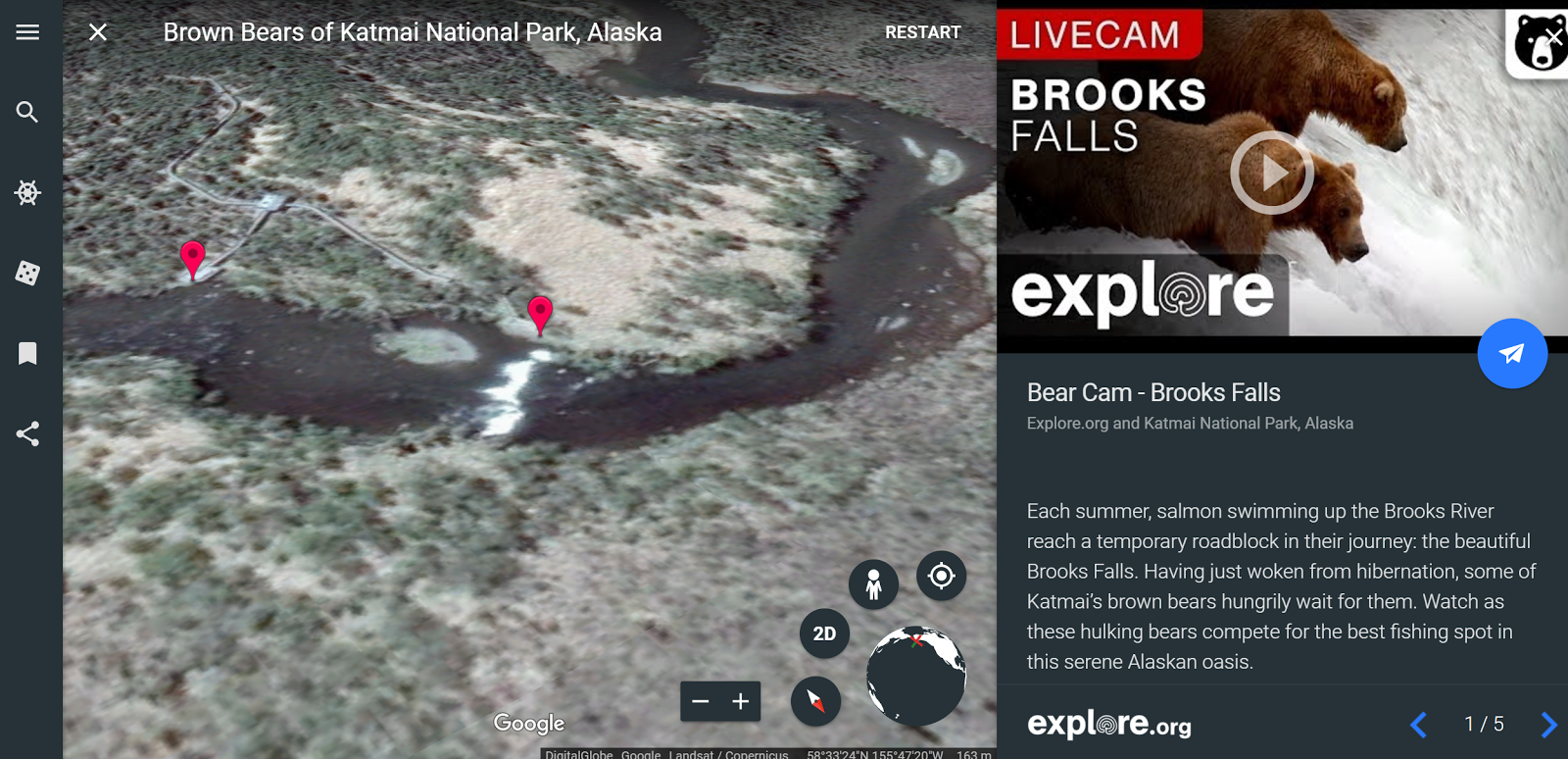 Free Technology For Teachers Live Nature Webcams In Google Earth - Google earth live