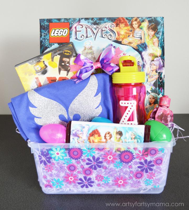 DIY Lego Elves Gift Basket at artsyfartsymama.com #giftidea #LEGO