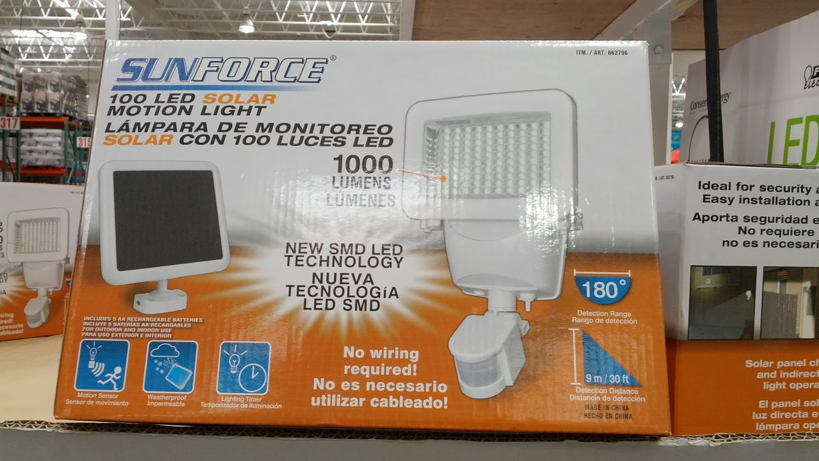 Sunforce 100 Led Solar Motion Security Light Costco