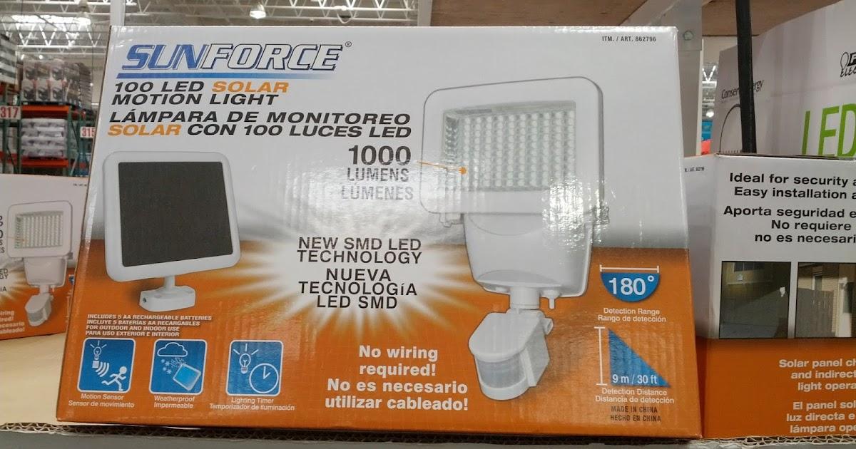Sunforce 100 Led Solar Motion Security Light Costco